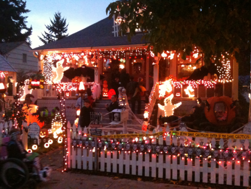 best decorated house west vancouver now - Homes Decorated For Halloween